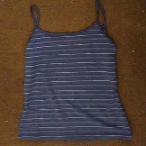 Gray striped tank top