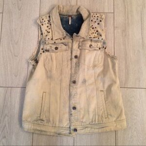 Free People Jackets & Coats - Free People studded vest