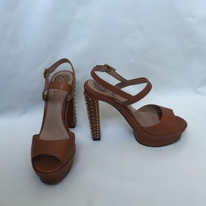Vince Camuto Shoes - Vince Canuto camel jeweled heels