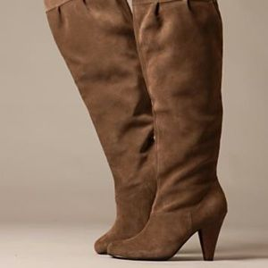 Restricted Shoes - Never worn, Restricted over the knee suede boots