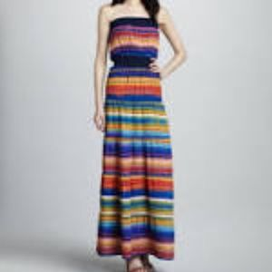 T bags Dresses & Skirts - T bags striped strapless maxi NWT
