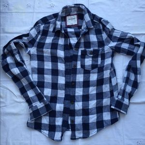 Abercrombie checkered flannel