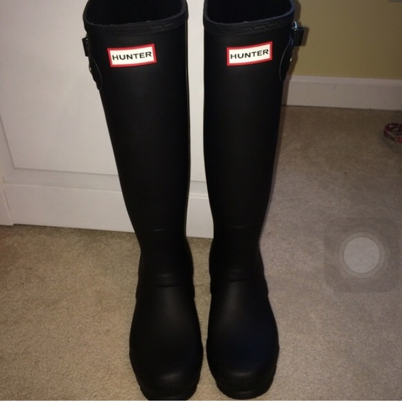 33% off Hunter Boots - TALL MATTE BLACK HUNTER RAIN BOOTS from ...