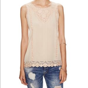 Beyond Vintage Tops - Beyond vintage lace silk top