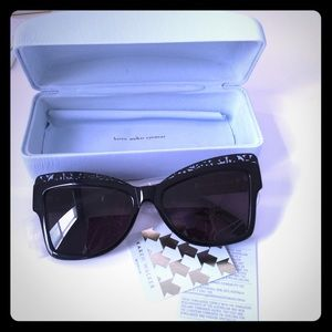 Karen Walker Accessories - Karen Walker Atomic Cat Eye Acetate Sunglasses-BK
