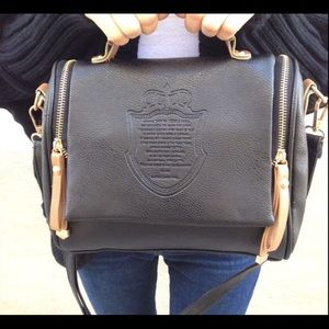 Handbags - Black crossover handbag
