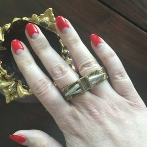 Pamela Love Paramount Double Finger Ring
