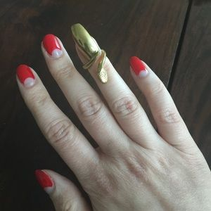 Bijules NYC Jewelry - Bijules NYC Gold Vermeil Nail Ring