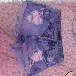F21 ripped shorts