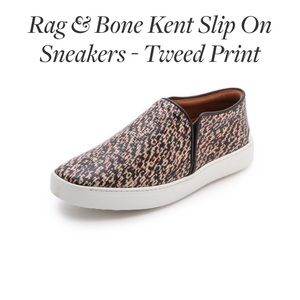 RAG & BONE Kent Slip on Sneaker in Tweed Print!