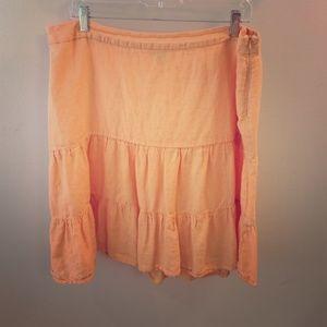 GAP Dresses & Skirts - Tangerine orange drop waist linen skirt, lined!