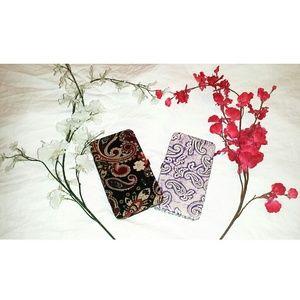Icing Handbags -  SALE {NWOT}• Paisley Fabric Hardcase Wallet •