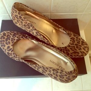 """Sole Society Shoes - Comfy leopard print wedges, 2.5"""" heel"""