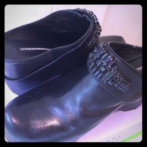 "vera wang lavender Shoes - Black moto jeweled clogs Jerrica 4"" STUNNING"