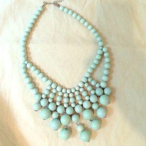 """unkown Jewelry - Mint beaded bib necklace, J. Crew?? 18"""""""