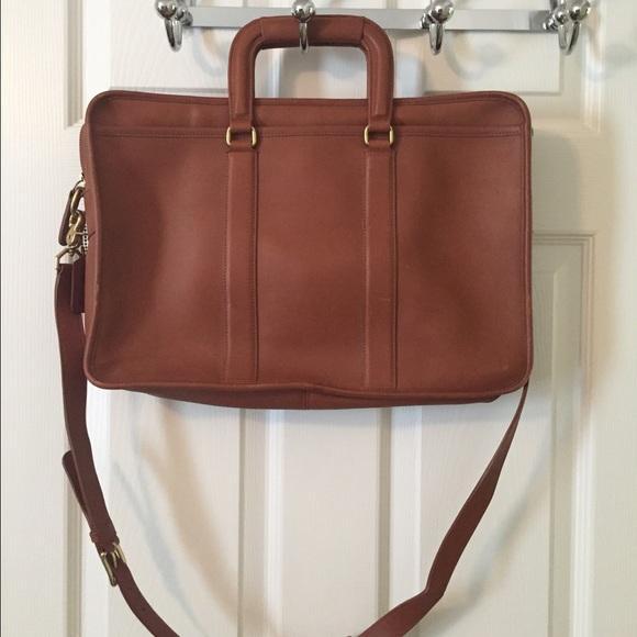 6c58132f7b8ad Coach Handbags - Coach 5296 Brown Leather Satchel Messenger Bag