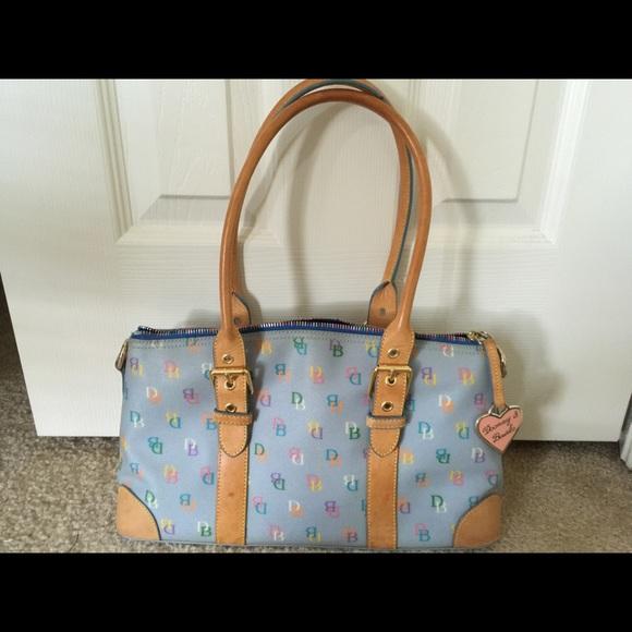 715d28f263ff Dooney & Bourke Bags | Dooney Bourke Periwinkle It Domed Blue ...