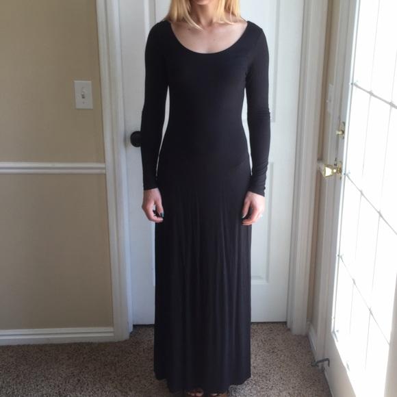 3fade492a42 Forever 21 Dresses   Skirts - Long sleeve black maxi dress