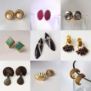 Vintage Mixed Lot of Beautiful Earrings