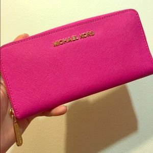 Michael Kors Clutches & Wallets - New hot pink Michael kors zipper wallet