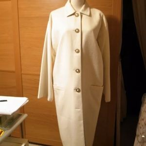 New Versace couture cashmere long coat sz s/m