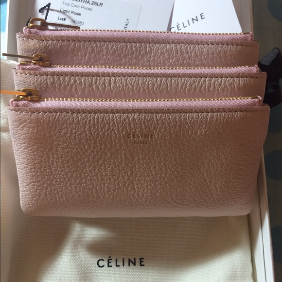 Celine Trio Coin Purse in Light Rose Goatskin 51815ea35bc93
