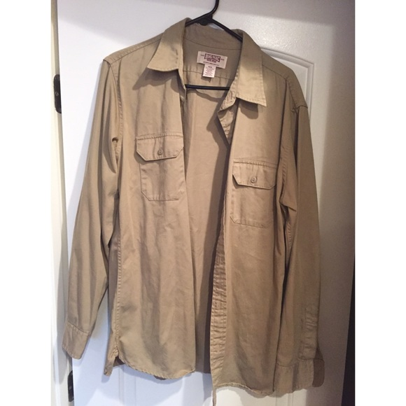 60 Off Other Macy 39 S Khaki Oversized Men 39 S Button Up