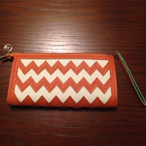 Orange/White Chevron Mutli-Way Bag