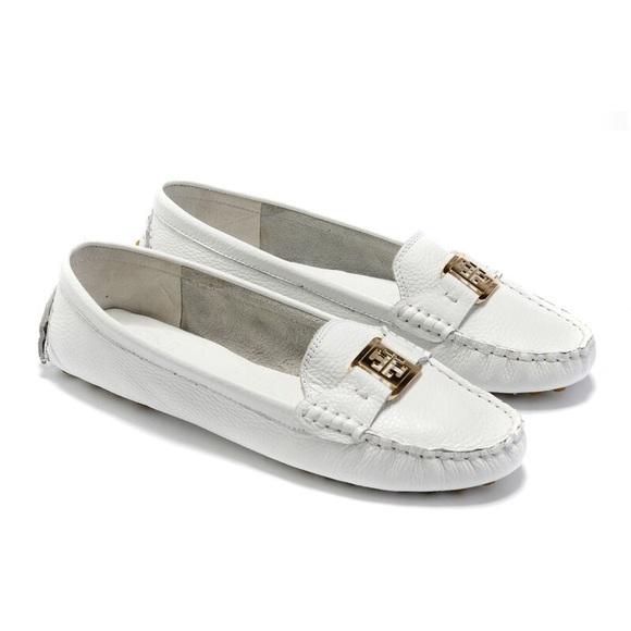 Tory Burch White Driver Loafer