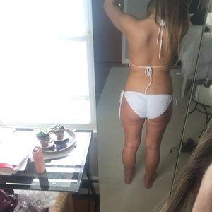 Swim - Brand new White crochet push up padded bikini