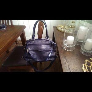 Rebecca Minkoff Navy Leather Satchel