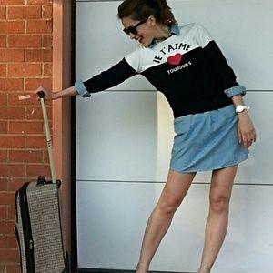 C. Wonder Sweaters - C. Wonder Je T'aime Intarsia Colorblock Sweater