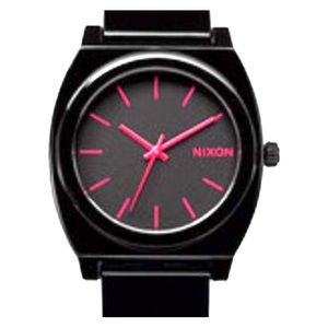 Black and Pink Nixon watch