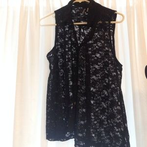 H&M Tops - H&M Black lace tank top