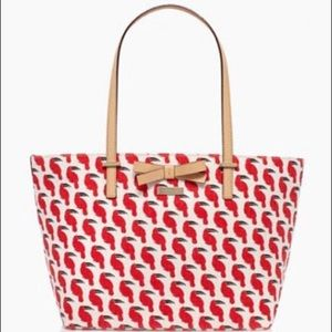 kate spade toucan canvas tote NWT