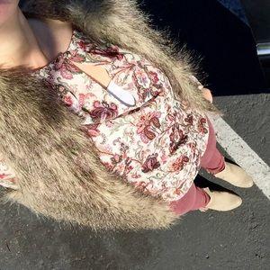 { Zara } Basics floral print long sleeve top