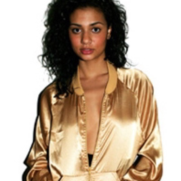 2cf7b323b 🌟AMERICAN APPAREL LAME GOLD JACKET🌟