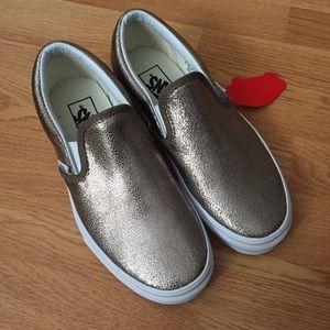 24ff637615 Vans Shoes - NEW Vans (J Crew) metallic bronze slip on shoes 7