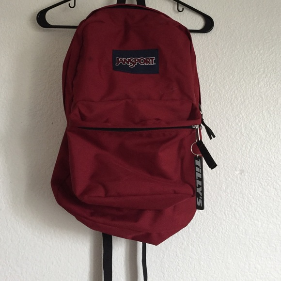 Urban Outfitters - Maroon Jansport Backpack from Jenna's closet on ...