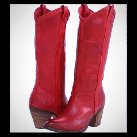 ❤️Frye  Taylor  Red Cowboy Boots Size 9❤️ 004288eb3