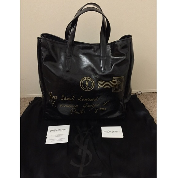 966baa78c1c3 NEW YSL Y Mail Large Tote Bag