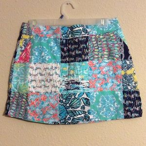 Lilly Pulitzer 6 Skirt Multi print patchwork Cute