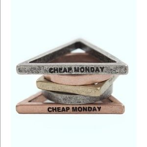 Cheap Monday, stacked rings!!!!