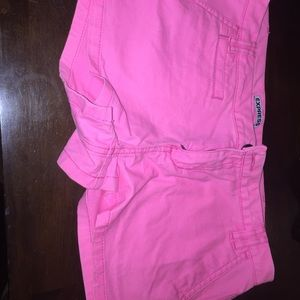 Express bright pink shorts never worn