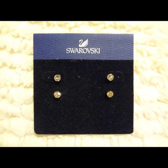 4e2d5a48d Swarovski Jewelry | Harley Pierced Earrings Set | Poshmark