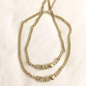 Accessories - Hope & True <3 Rhinestone Gold Necklace Set