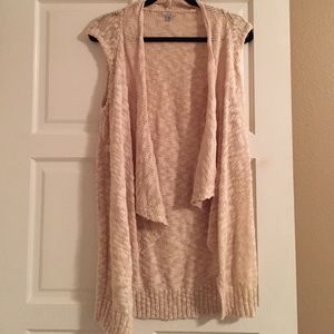 Tan Sleeveless Sweater