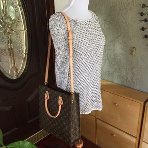 Louis Vuitton monogram sac plat PM tote bag