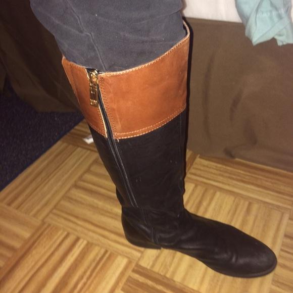 f3ec37ecf147 Tommy Hilfiger Two Tone Riding Boots. M 5600af457e7ef689ae001490
