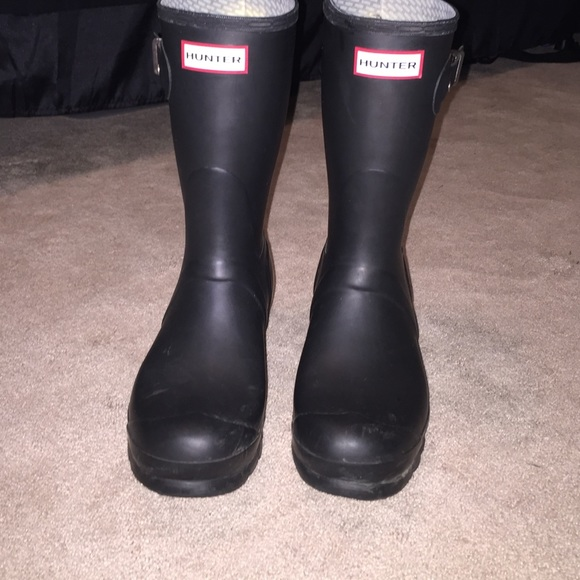 39 off hunter boots boots black matte hunters womens
